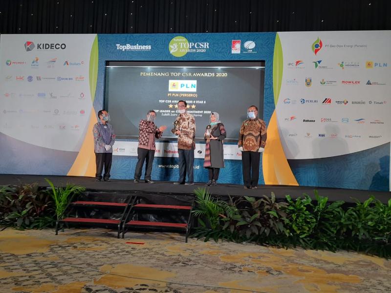 PLN Raih 2 Penghargaan di Ajang Top CSR Awards 2020