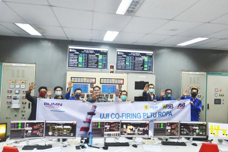 Uji Coba Co-Firing 10% BBN Toss Sukses di PLTU Ropa, Flores