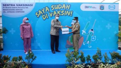 Photo of Dorong Percepatan Vaksinasi, WIKA Gelar Sentra Vaksin Jakarta Timur