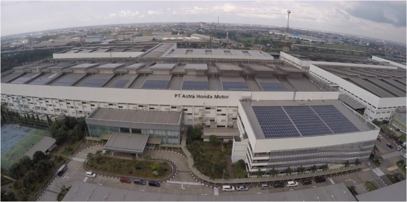 Photo of Keren, Pabrik Astra Honda Motor Pakai Solar Rooftop