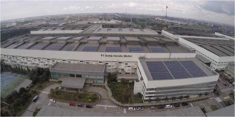 Keren, Pabrik Astra Honda Motor Pakai Solar Rooftop