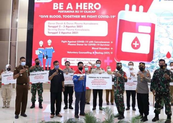 Kilang Pertamina Cilacap Kembali Inisiasi Donor Plasma Konvalesens