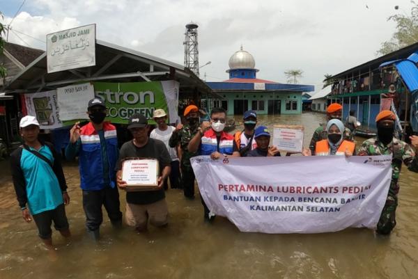 Pertamina Lubricants Peduli Salurkan Bantuan Banjir Kalimantan Selatan