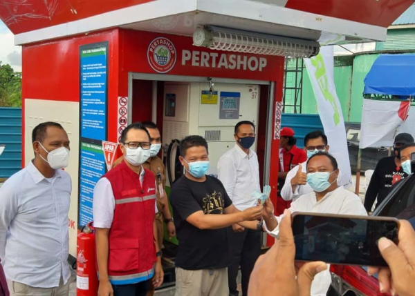 Pertamina Resmikan Pertashop Perdana di Kepri