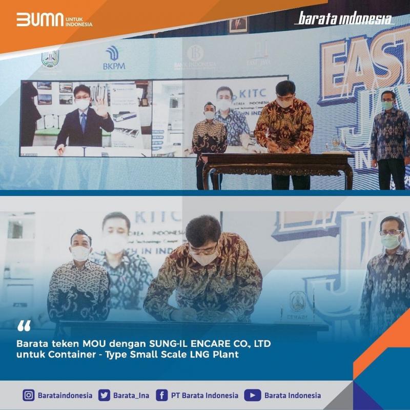 Tingkatkan Produksi LNG, Barata Indonesia Gandeng Korsel Bangun Pabrik